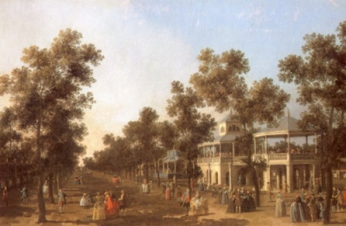 Vauxhall Gardens painted by Antonio Canaletto (1697-1768)
